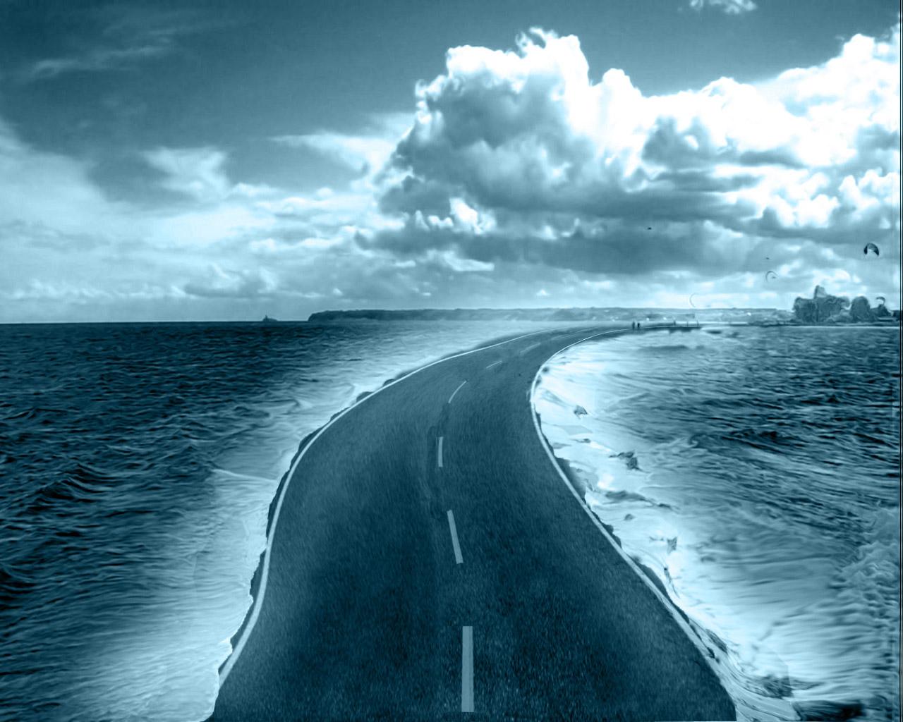 Highway-Beach