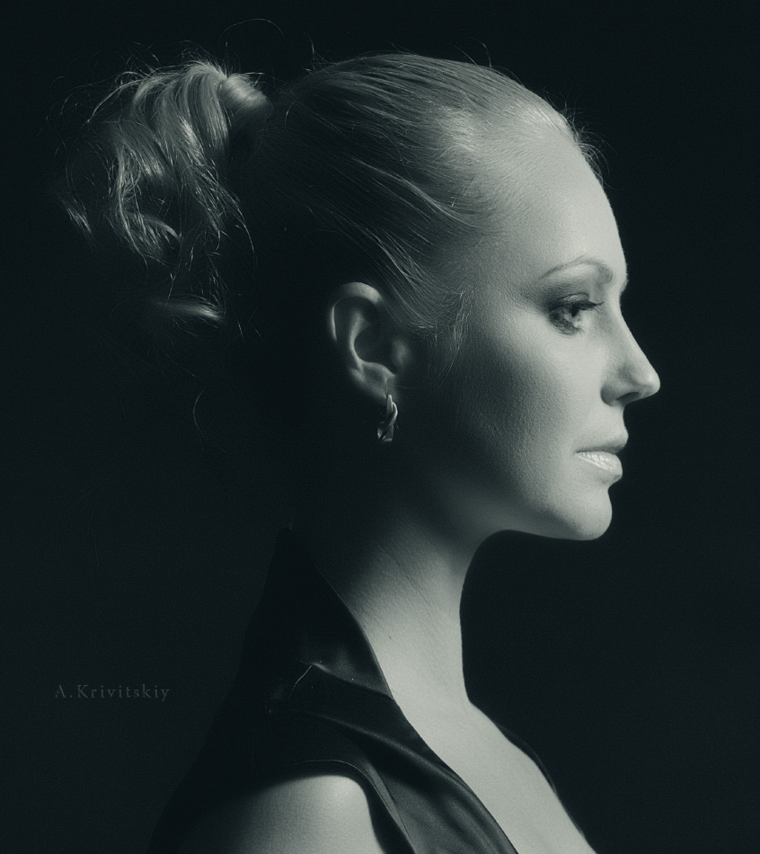 Portrait in profile. Портретные курсы. Portrait courses.